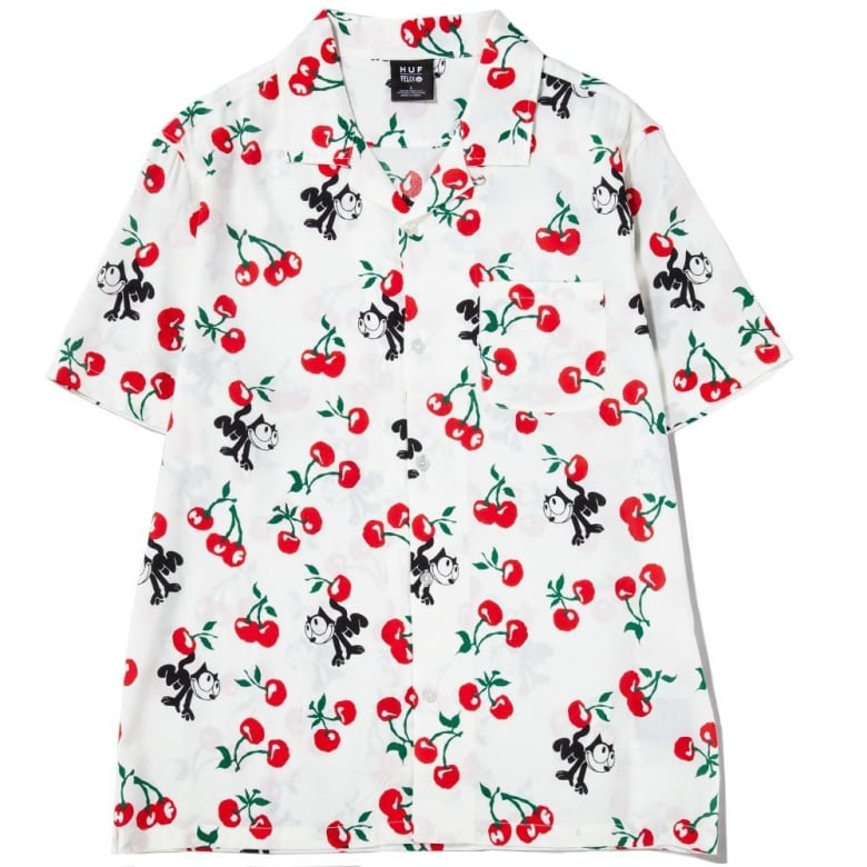 28e9409cf I love the playful nature of this Huf print shirt. Felix the Cat first  appeared way back in 1919 and even though he's been around for almost a  hundred years ...