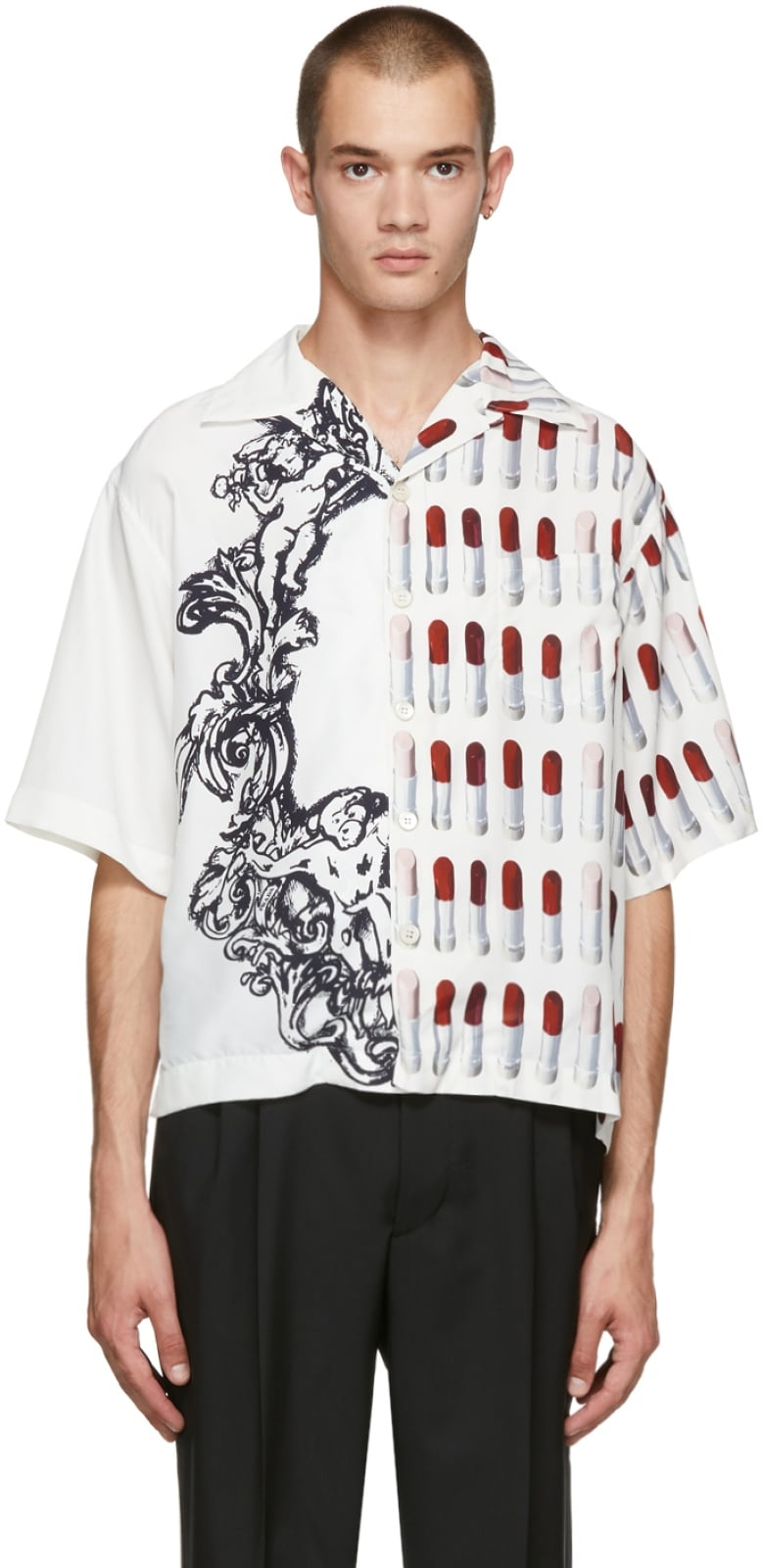 75049c9a6 If you want to know what the most popular graphic print shirt is among  celebrities this season, it's gotta be this eccentrically Prada shirt.