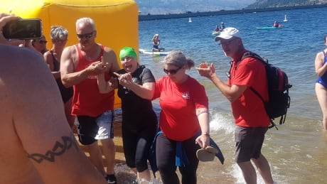 Slowest swimmer makes big splash at annual Kelowna race