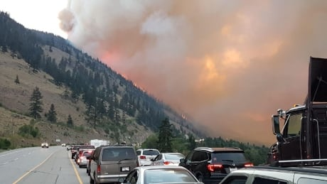B.C. wildfires trigger evacuations, highway closures in Okanagan