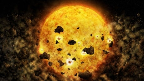 astronomers spy nearby star that could be eating a planet