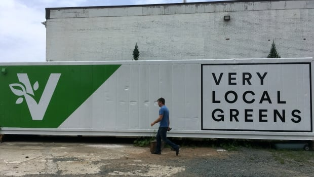 A 3.6-metre shipping container is now an urban farm feeding customers closer to home, the first in Nova Scotia. The container can essentially hold the same amount of leafy greens as would a traditional two-acre farm, with hydroponics, so there's no soil, and using 95% less water.