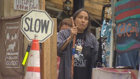 Protester Camp Cloud Bunaby B.C. 18 July 2018