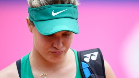 Injury forces Eugenie Bouchard out of Swiss Open semis