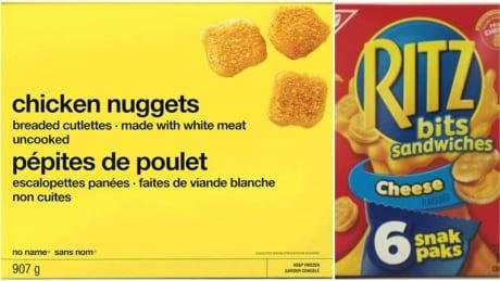 cfia recall no name chicken nuggets ritz bits