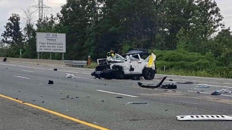 Highway 403 fatal rollover July 21 2018