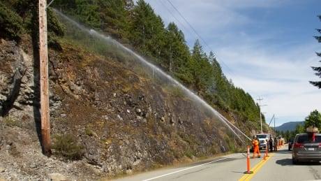 Highway 4 Port Alberni Sproat Lake fire