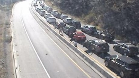 Major congestion on Highway 1 on Vancouver Island between Goldstream and Mill Bay