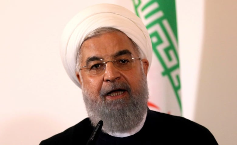 Iranian President Hassan Rouhani cautioned Trump on Sunday about pursuing hostile policies against Tehran.(Ronald Zak/Associated Press)