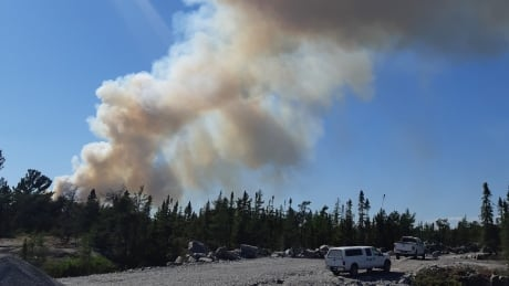 French River forest fire