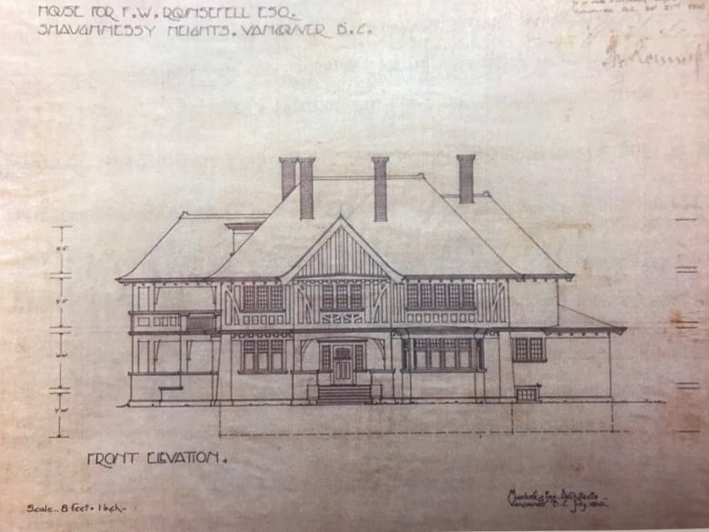 City of vancouver sues chinese developer to force repair of damaged the city of vancouvers bc supreme court petition includes copies of the original blueprint drawings for the 1911 shaughnessy mansion malvernweather Choice Image