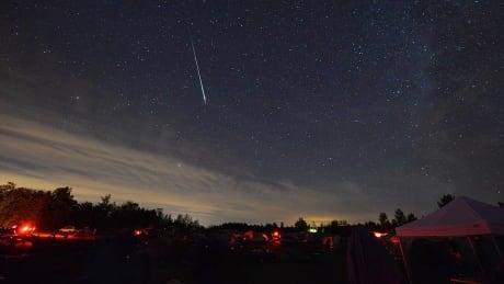 Perseid meteor sky
