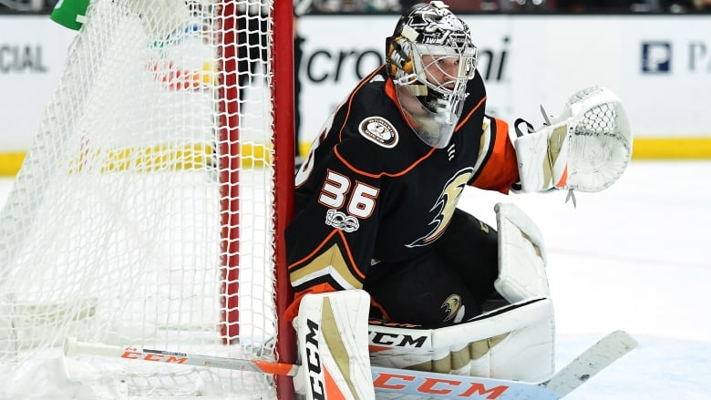 Ducks Agree To 8 Year Extension With Goalie John Gibson Cbc Sports