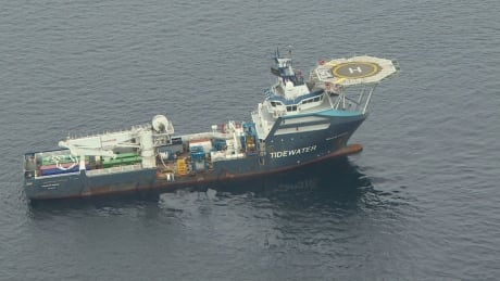 Manolis L salvage ship Tidewater aerial