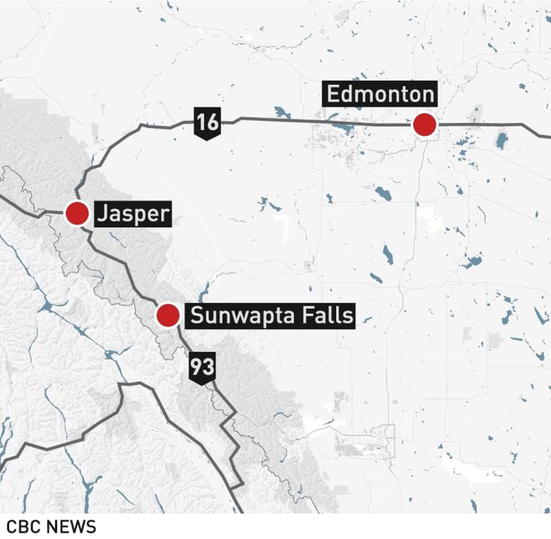 6 killed in highway crash south of Jasper, Alta  | CBC News