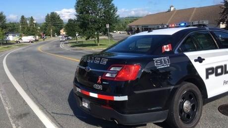 Fredericton shooting, Aug. 10, 2018, police block street