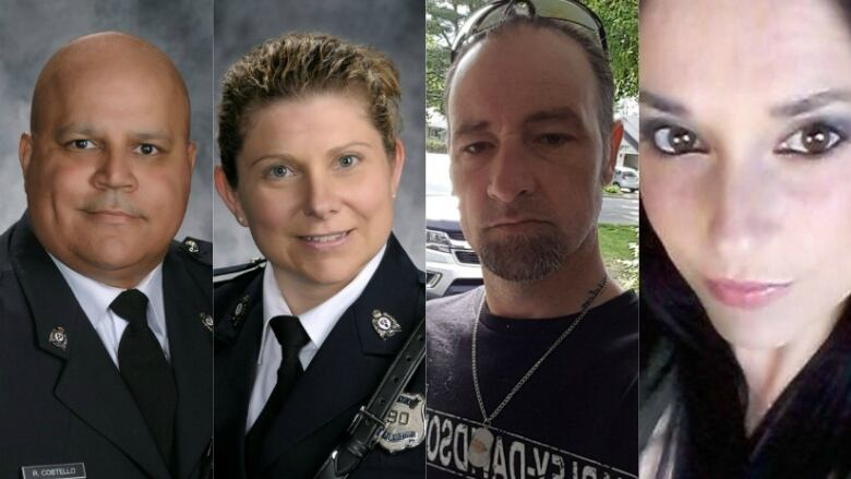 Victims Of Fridays Shooting From Left To Right Const Lawrence Robert Costello  And Const Sara Mae Helen Burns  Donald Adam Robichaud