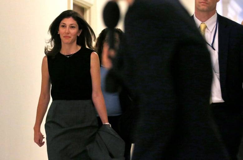 Former FBI lawyer Lisa Page arrives for a House committee deposition, one day after the session involving Strzok. The two are at the centre of controversial texts that led to him being removed from Mueller's team.(Leah Millis/Reuters)
