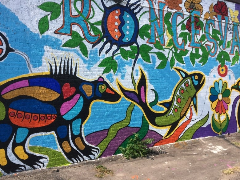 Anishinaabe tale of creation springs to life on the wall of