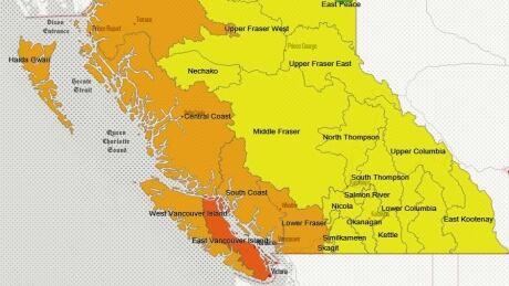 B.C. Drought map