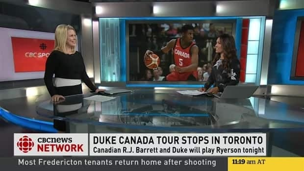 Signa Butler sets up R.J. Barrett's Canadian tour