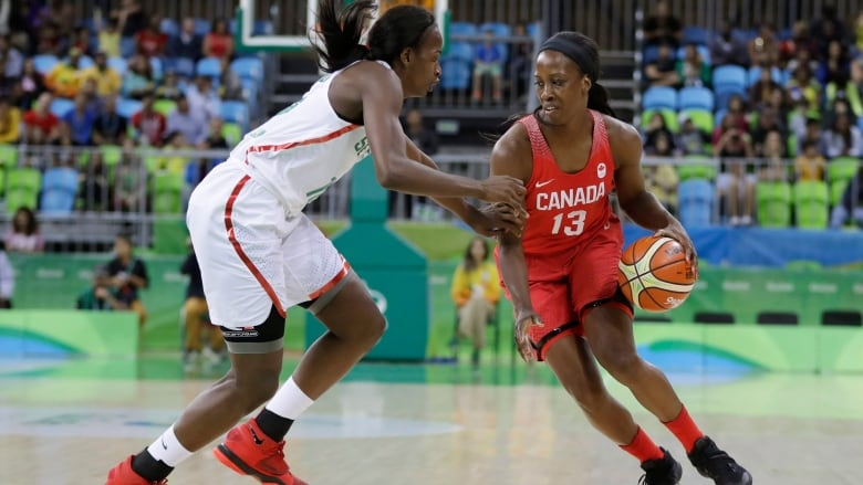 e316a7f1577 Tamara Tatham, right, shown competing for Canada at the 2016 Olympics, has  become the first Canadian woman on a G League coaching staff.
