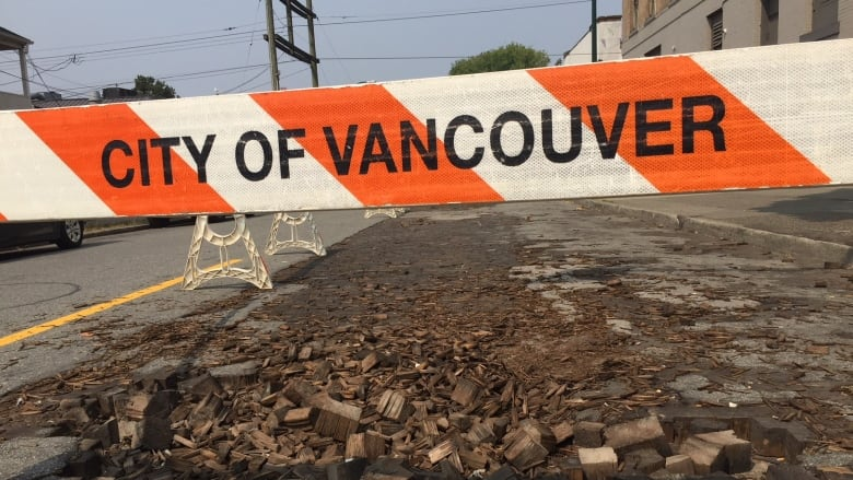Century-old wood used to pave early Vancouver splintering in heat