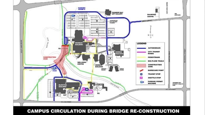 Confederation College Bridge In Thunder Bay Ont Undergoes Update