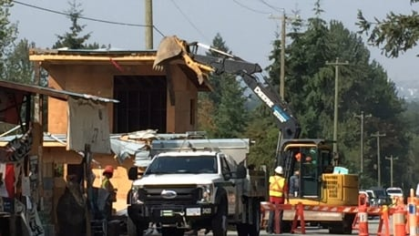 Burnaby RCMP make arrests during Camp Cloud eviction as city begins dismantling site