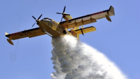 Ontario forest fires water bomber