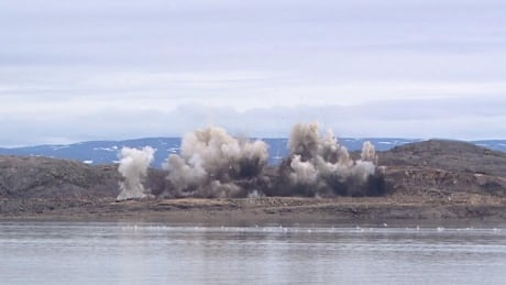 blasting at Iqaluit causeway