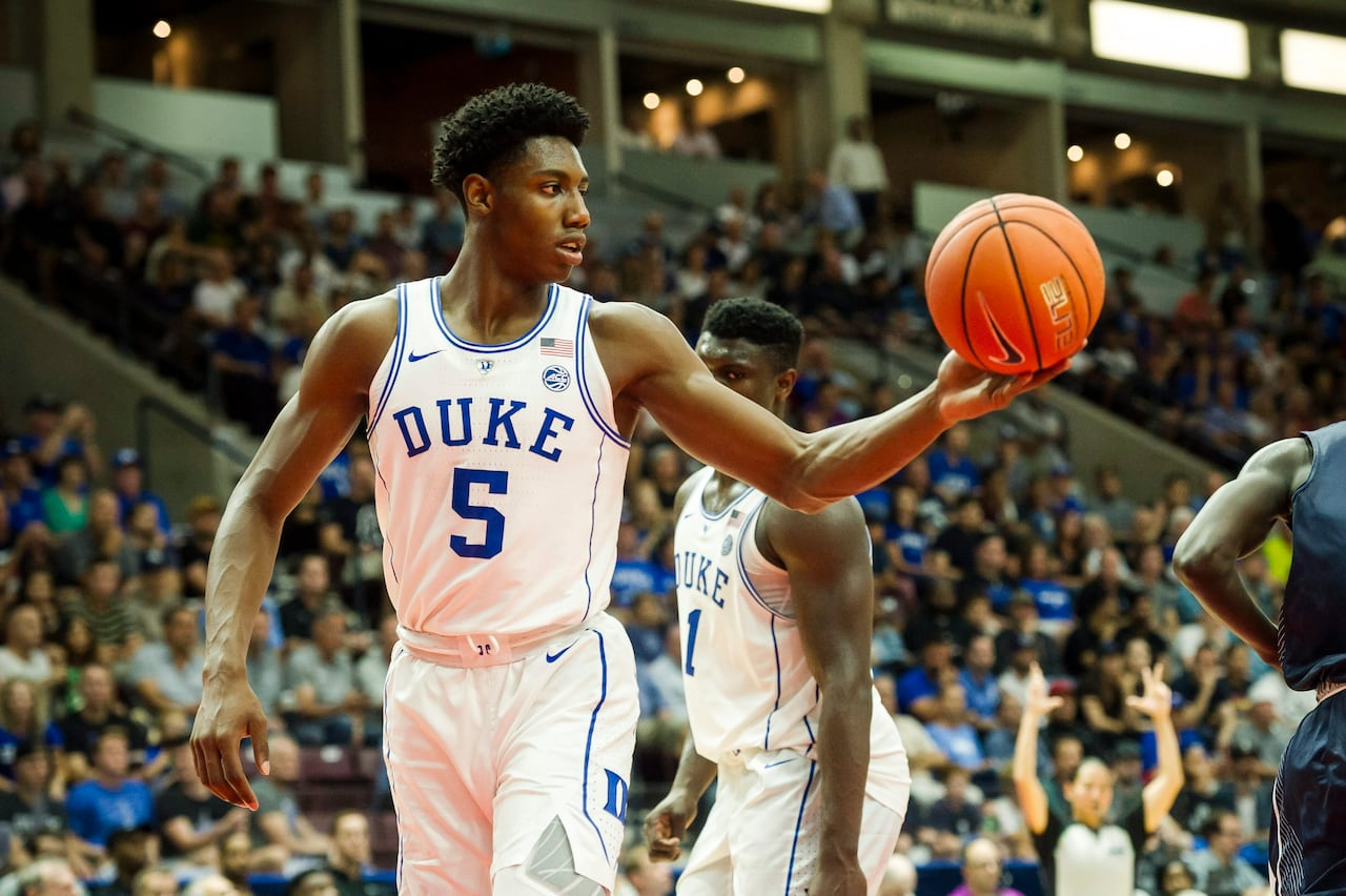 ed19277f51d Canada s R.J. Barrett helps Duke dismantle U of T in exhibition rout ...