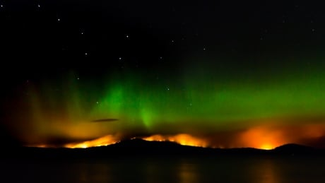 B.C. Wildfire/northern lights.