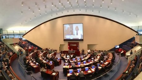 Toronto city council chambers full