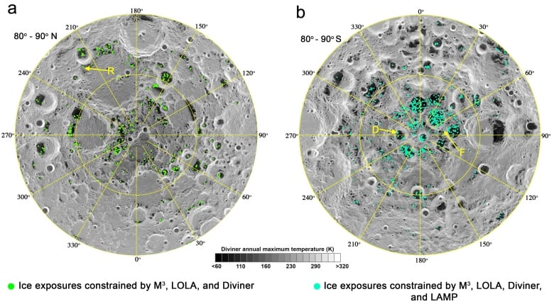 Scientists confirm water ice has been spotted at the moon's poles