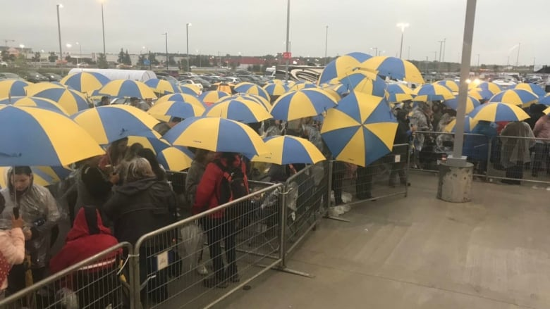 Thousands Assemble In Quebec City Rain For Ikea Grand