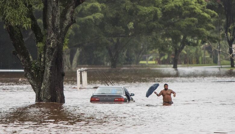 Lane dumped torrential rains that inundated the Big Island