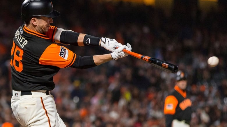 c92f43bf6089 Veteran Giants catcher Buster Posey will have surgery hip surgery on Monday after  playing through pain for much of the season. Posey s five home runs this ...