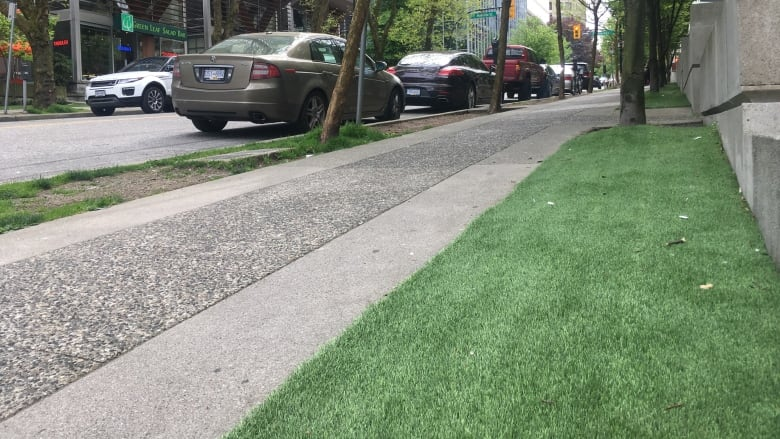 Turf war: Artificial grass sprouts along Vancouver streets