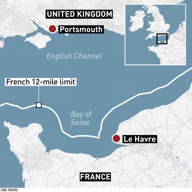Map Of Uk France.French And British Fishermen Square Off With Rocks Fireworks In