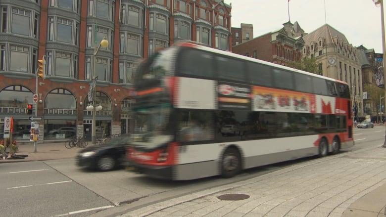 An Oc Transpo Bus Moves Along Elgin Street Near Sparks Street In August 2018 Cbc