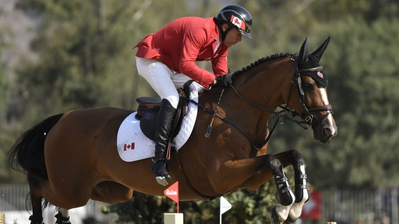 Canada S Eric Lamaze And Horse Fine Lady 5 Are Shown Competing At The Rio Games In