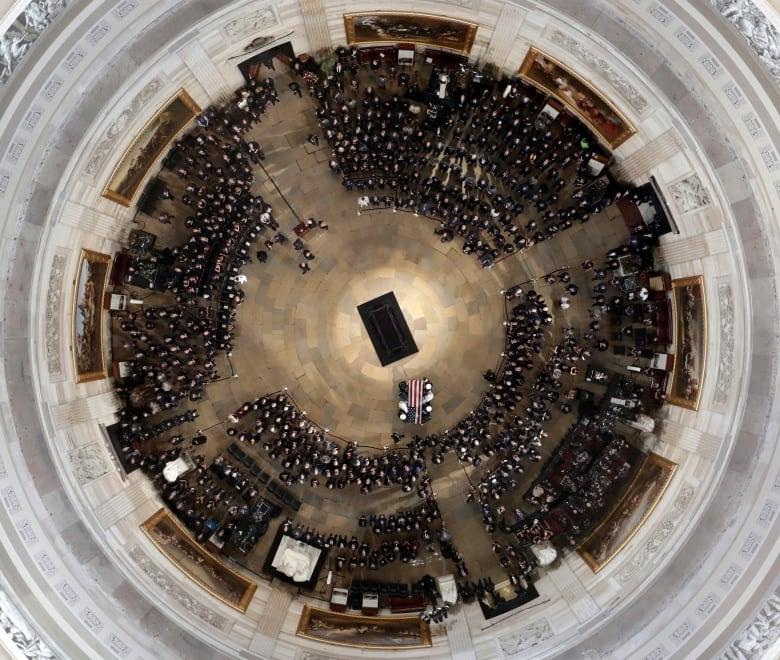 Sen. John McCain lies in state at U.S. Capitol