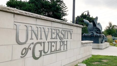 University of Guelph gryphon sign
