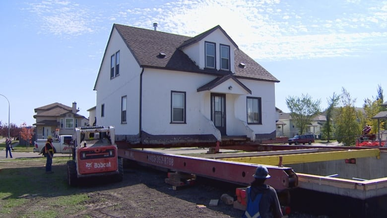 The House Took About An Hour And A Half To Move To Its New Location In  Beaumont, Alta. (CBC)