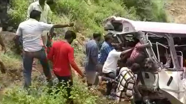 51, including children, women, killed as bus falls into Telangana valley