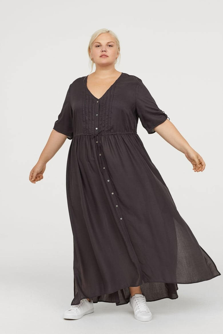 b18c294690f6 Breezy dresses aren't just for summer – they're also perfect for fall  layering. This one has the same shape and feel as a nightgown, but black  makes it ...