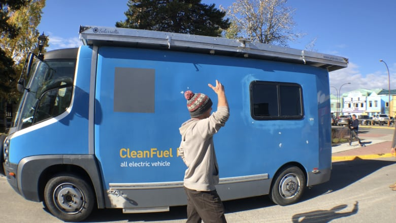 Men driving solar-powered van to South America in race