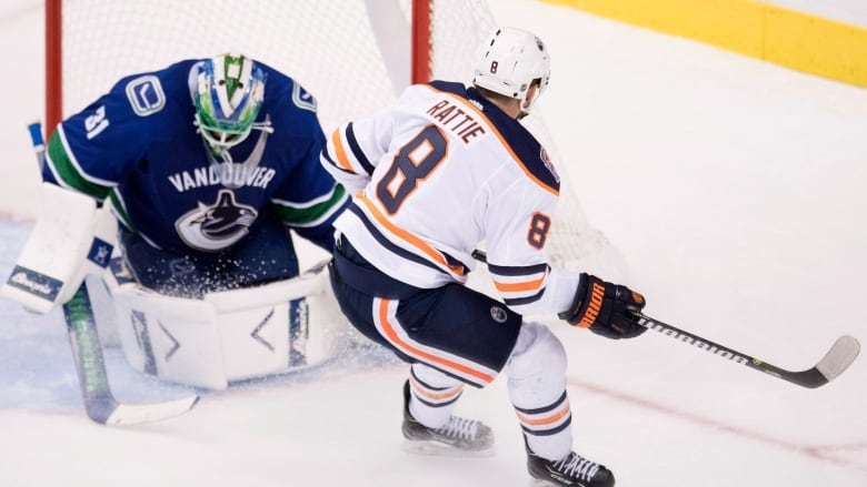 newest 137d6 f3aaf Oilers' Ty Rattie scores twice in win over Canucks
