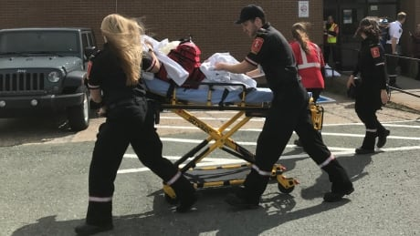 Paramedics at Prince of Wales Collegiate